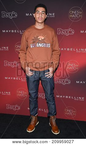 LOS ANGELES - OCT 04:  Marcus Scribner arrives for the People's 'One's To Watch' Event on October 4, 2017 in Hollywood, CA