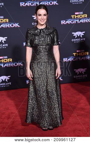 LOS ANGELES - OCT 10:  Elizabeth Henstridge arrives for the