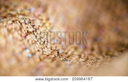 Beige abstract textured Christmas background with copy space
