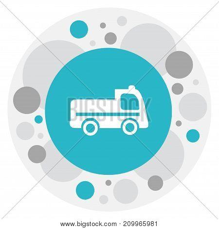 Vector Illustration Of Transportation Symbol On Lorry Icon