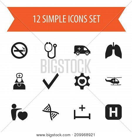 Set Of 12 Editable Care Icons. Includes Symbols Such As Human Love, Clinic Room, Heart And More