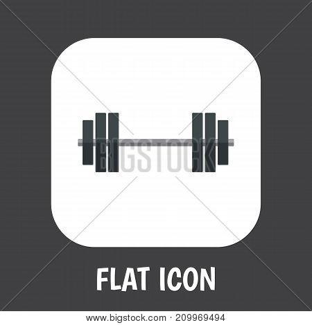 Vector Illustration Of Lifestyle Symbol On Powerlifting Flat Icon