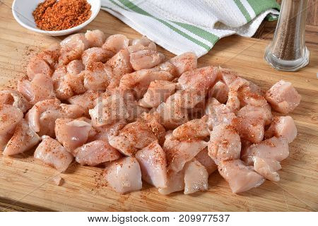 Diced Chicken Breasts