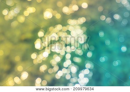 abstract cool and warm tone light bokeh pattern - can use to display or montage on product