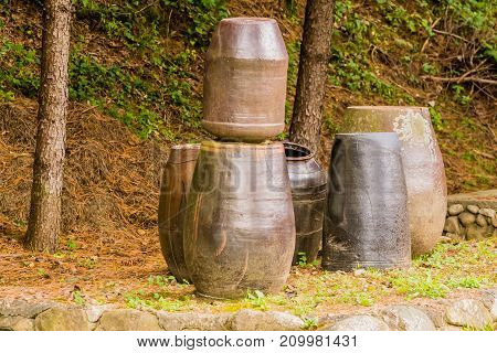 Collection Of Large Earthen Pots