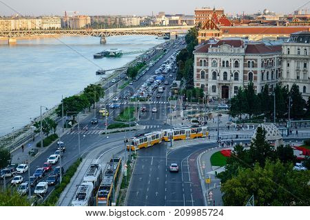Embankment of the Danube in Budapest, Hungary
