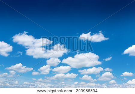 blue sky with cloud for spring summer background