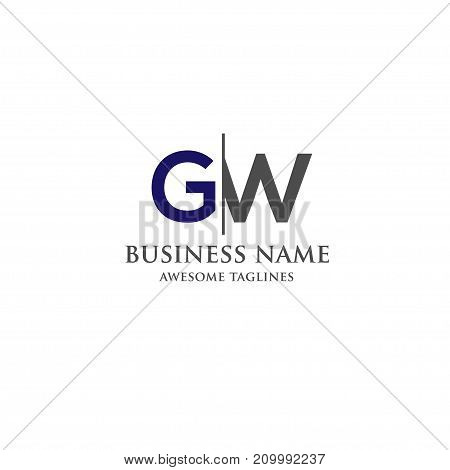 GW letter logo design vector illustration template, G letter logo vector, letter g and w logo vector, creative Letter GW letter logo, letter g and w logo concept