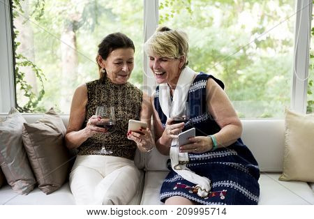 A lesbian couple is spending time together