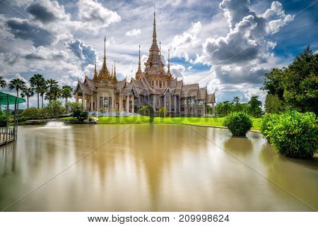 Beautiful scene of thai temple at Wat None Kum or Wat Non Kum at Nakhon Ratchasima province Thailand. It's popular thai temple in Thailand.