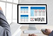 Web Design layout sketch drawing Software Media WWW and Graphic Layout Website development project poster