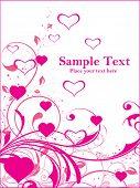 pink swirl design card illustration poster