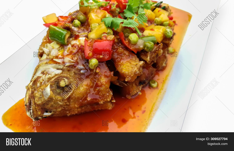 Deep Fried Fish Chili Image Photo Free Trial Bigstock