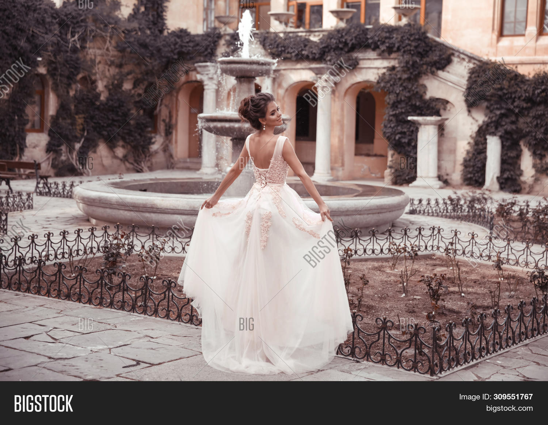 Beautiful Bride Pink Image Photo Free Trial Bigstock