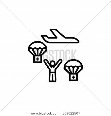 Help Donation Migration Outline Icon. Element Of Migration Illustration Icon. Signs, Symbols Can Be
