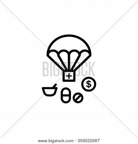 Assist Help Migration Outline Icon. Element Of Migration Illustration Icon. Signs, Symbols Can Be Us