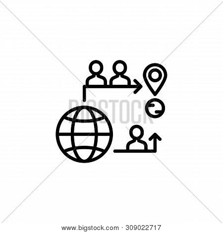 Mobility Migration Outline Icon. Element Of Migration Illustration Icon. Signs, Symbols Can Be Used