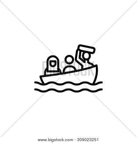 Ship Migration Outline Icon. Element Of Migration Illustration Icon. Signs, Symbols Can Be Used For
