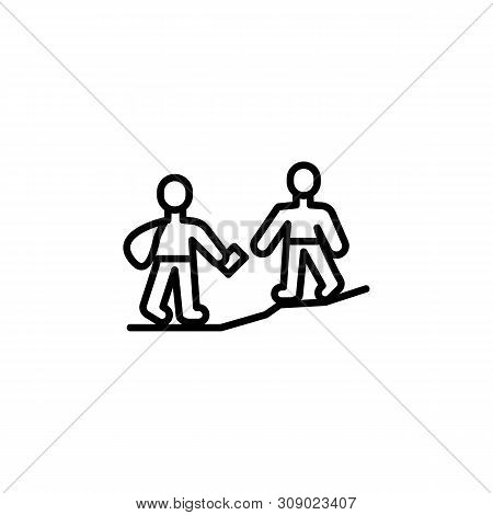 Help Migration Outline Icon. Element Of Migration Illustration Icon. Signs, Symbols Can Be Used For