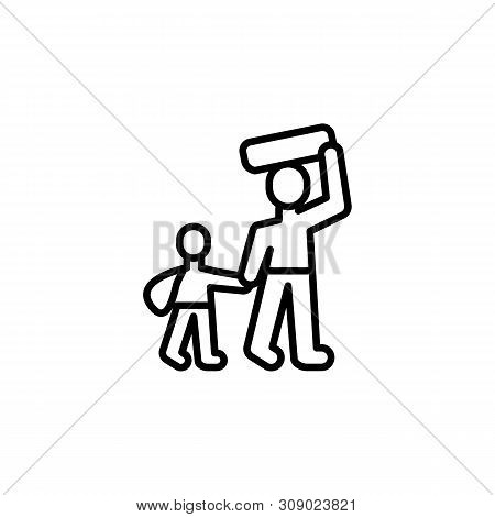 Refugee Migration Outline Icon. Element Of Migration Illustration Icon. Signs, Symbols Can Be Used F