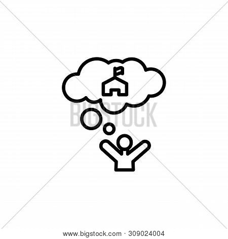 Dream Help Migration Outline Icon. Element Of Migration Illustration Icon. Signs, Symbols Can Be Use