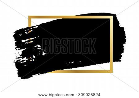Vector Black Paint Brush Stroke