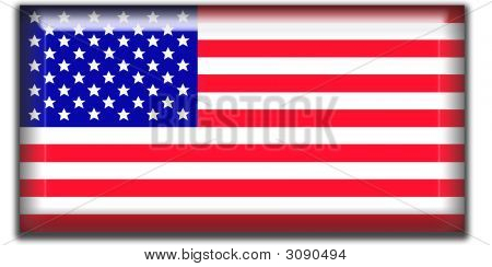 Us Flag Square Icon