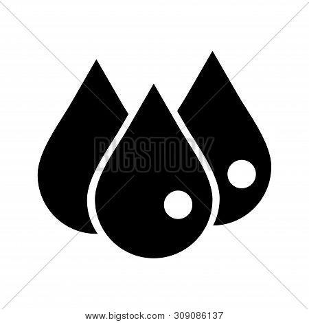 Drops Icon Vector Icon On White Background. Drops Icon Modern Icon For Graphic And Web Design. Drops