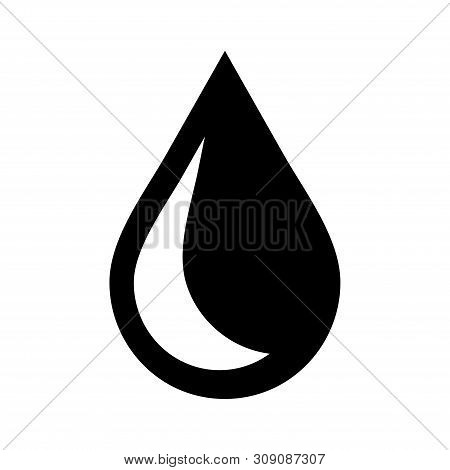 Drop Icon Isolated On White Background. Drop Icon Modern Symbol For Graphic And Web Design. Drop Ico