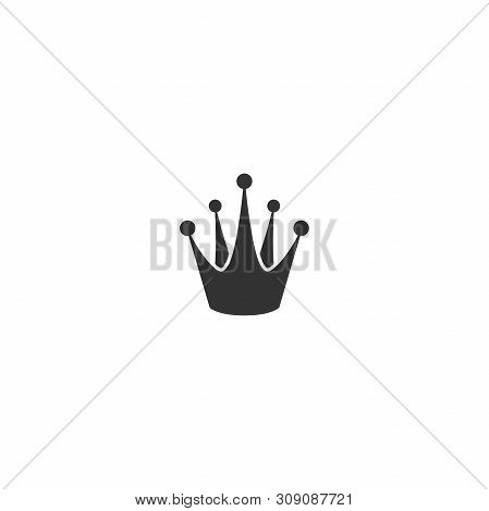 Crown icon isolated on white. Royal, luxury, vip, first class sign. Winner award. Monarchy, authority, power symbol. poster