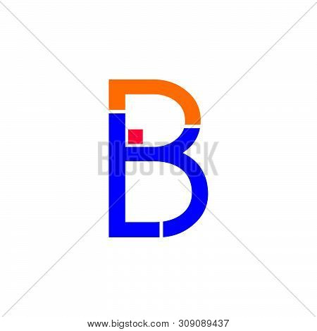 Abstract Letter Br Rb Geometric Line Logo Vector