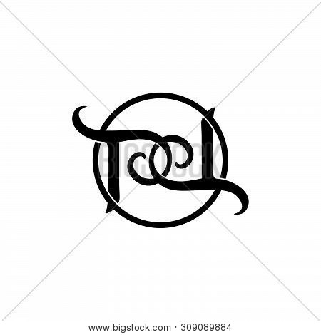 Letter Pd Linked Spiral Logo Vector Unique Unusual Luxury Simple Design Concept