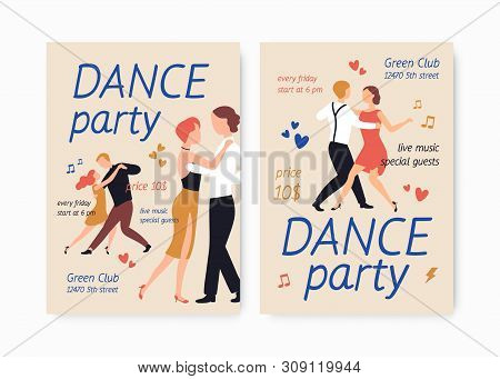 Bundle Of Flyer Or Poster Templates For Choreography School Or Studio, Dance Party, Show Or Performa