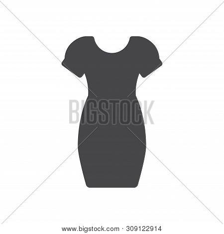 Women Dress Vector Icon On White Background. Women Dress Icon In Modern Design Style. Women Dress Ve