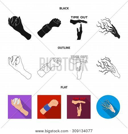 Vector Design Of Animated And Thumb Sign. Collection Of Animated And Gesture Stock Symbol For Web.