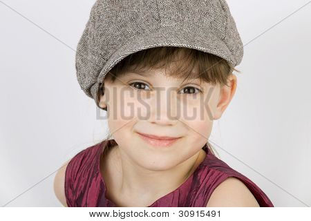 The little minx wearing a cap and gown with gray background poster
