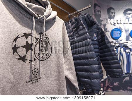 Porto, Portugal - April 2018: Sale In The Fan Shop At Estadio Do Dragao Stadium