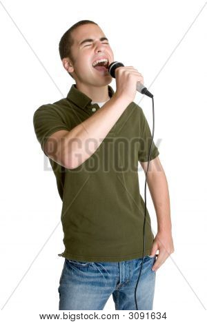 Teenage Boy Singing