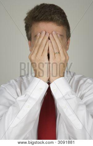 Business Man Hiding