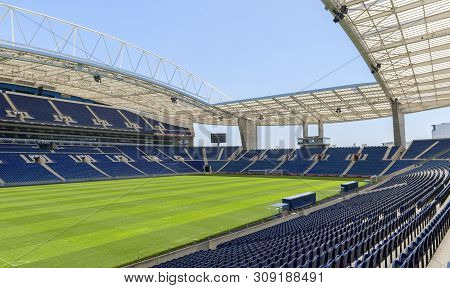 Porto, Portugal - April 2018: View On Estadio Do Dragao Arena