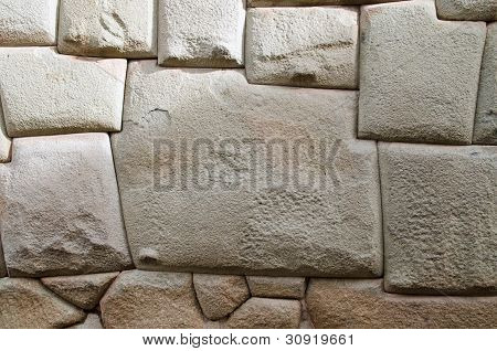 The Famous 12-sided Inca Stone In Cusco, Peru