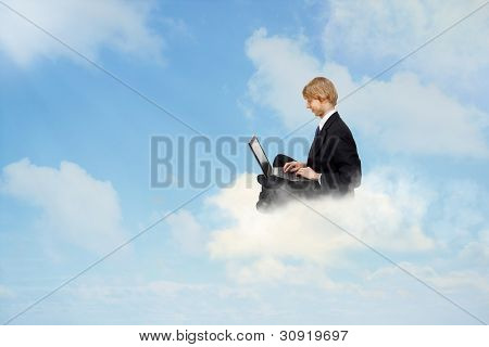 Using a Laptop on Clouds