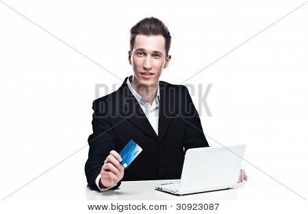 purchase with a credit card via the Internet