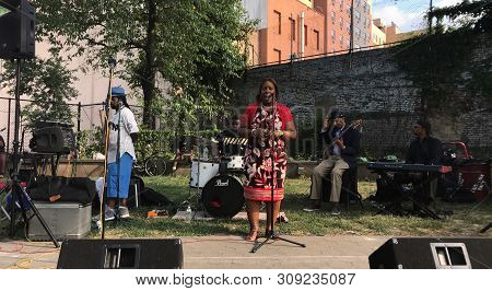 Bronx, New York/usa - July 14, 2018: Council Member Vanessa L Gibson Speaks At The Open Mic In The P