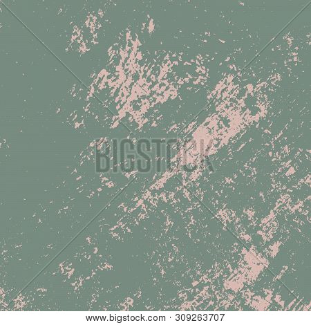 Dirty Rustic Rough Empty Cover Template. Distressed Spray Green Grainy Back Texture. Grunge Dust Mes