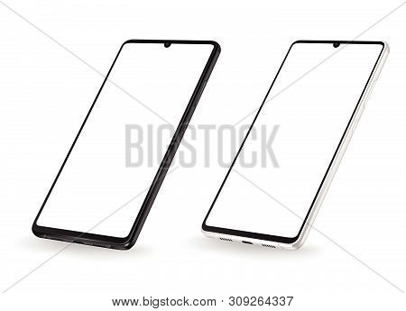 Smartphone Mockup Vector New Realistic Mobile Phone Smartphone Collection  Mockups Easy Remove Scree