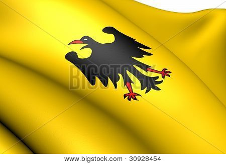 Holy Roman Emperor Banner(Before 1400). Close Up. poster