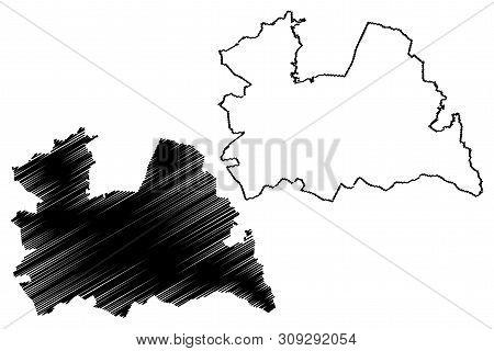 Utrecht Province (kingdom Of The Netherlands, Holland) Map Vector Illustration, Scribble Sketch Utre