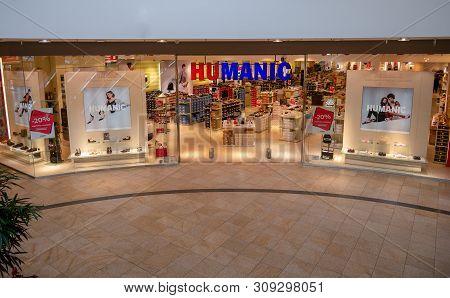 Gyor Hungary 05 07 2019 A Humanic Shop In The Arkad In Gyor