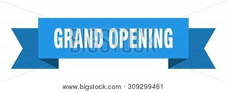 Grand Opening Ribbon. Grand Opening Isolated Sign. Grand Opening Banner